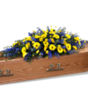 Coffin Spray in Blue and Yellow